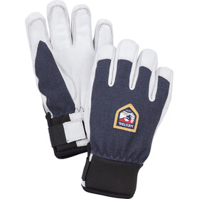Hestra Army Leather Patrol 5 Finger Gloves Kids, navy